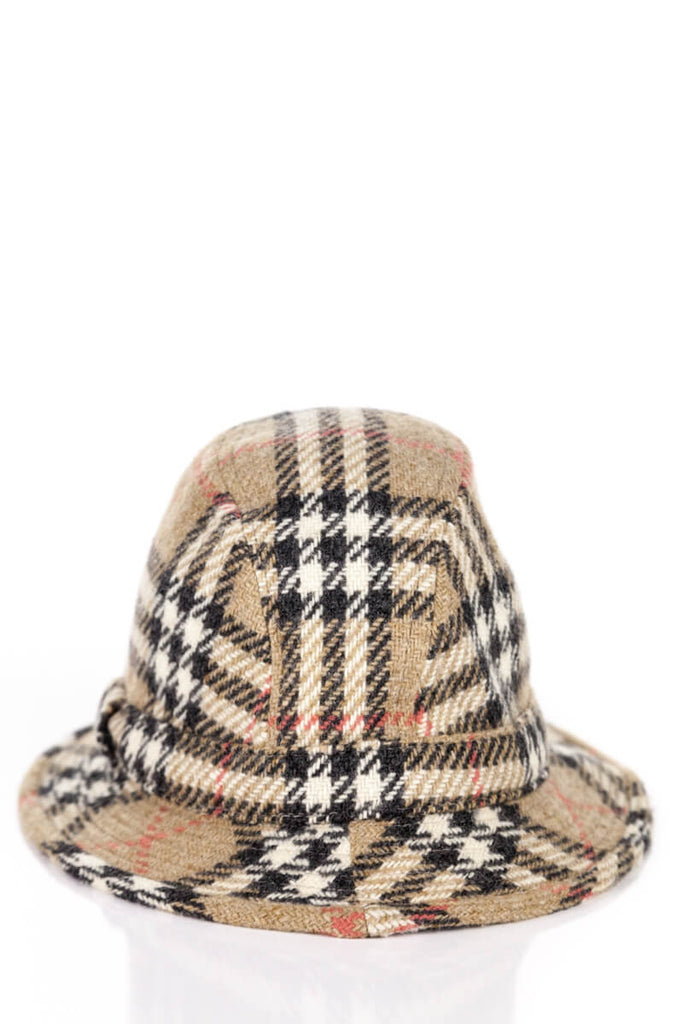 Burberry Wool Nova Check Hat Size L - OWN THE COUTURE