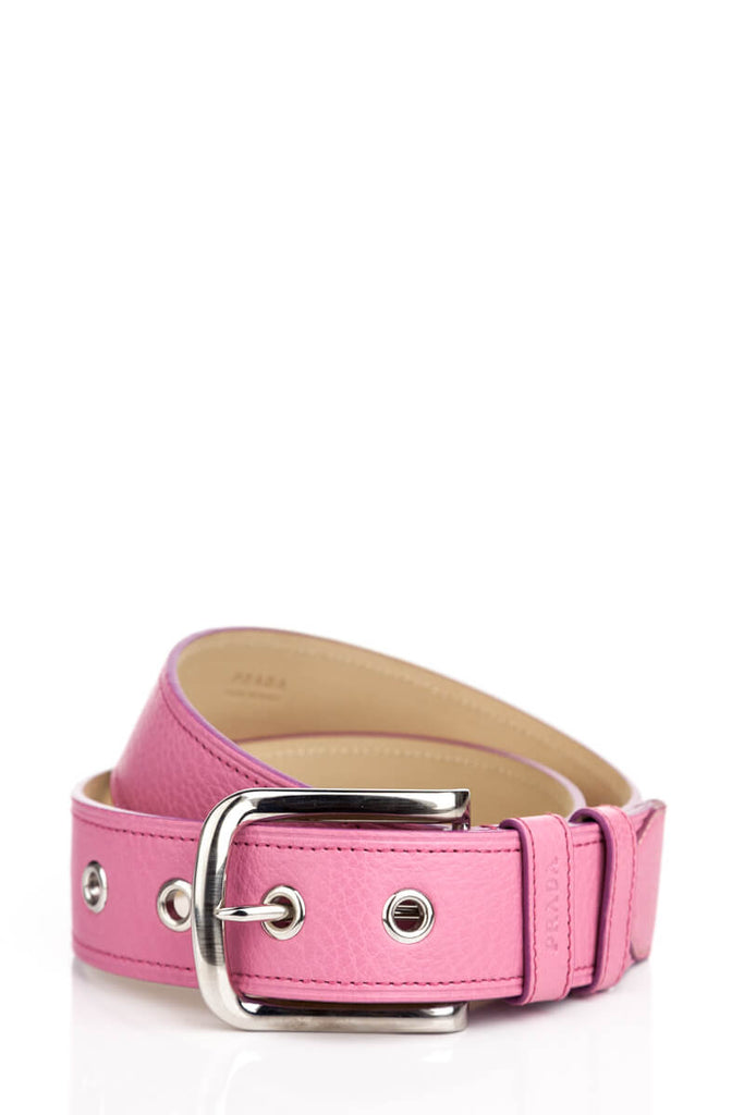 54280aeb9b6 ... Prada pink pebbled leather belt - XS - OWN THE COUTURE ...