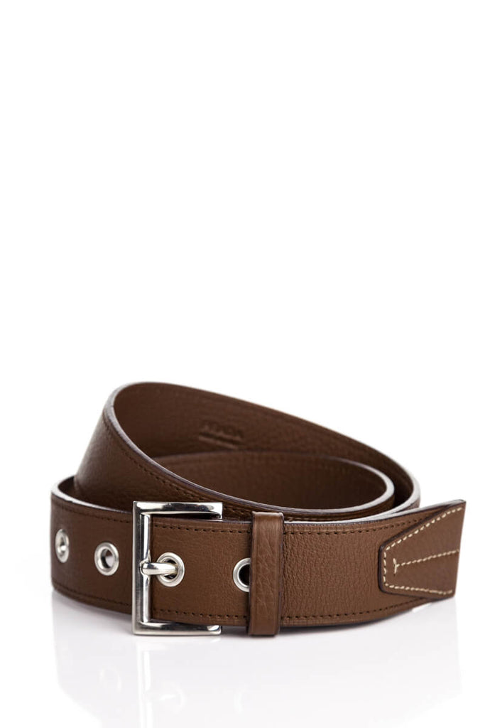 f8196acb99e18 Prada brown leather belt - XS   OWN THE COUTURE   Canada's luxury ...