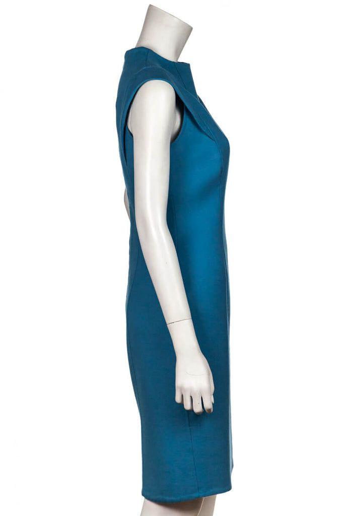 Carolina Herrera Turquoise Cap Sleeve Dress Size S | US 6 [20% OFF] - OWN THE COUTURE