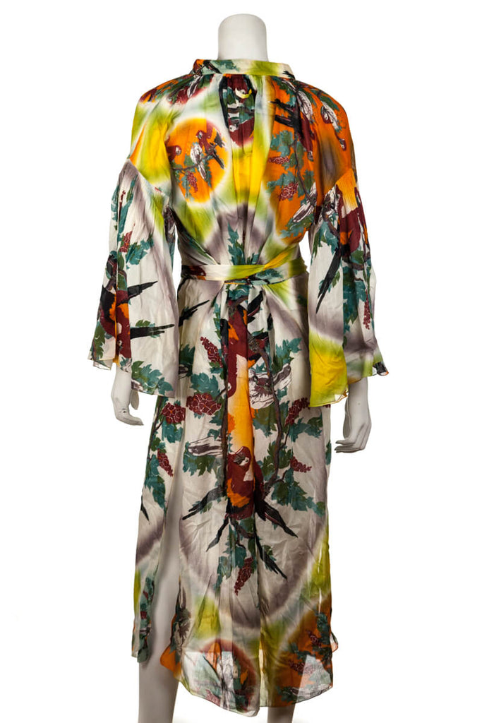Jean Paul Gaultier Soleil Multicolor Parrot Print Swim Cover Up Size M - OWN THE COUTURE