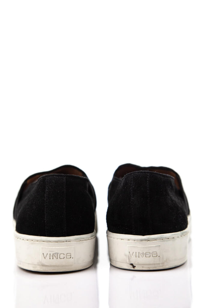Vince Black Suede Slip on Sneakers Size 9 - OWN THE COUTURE