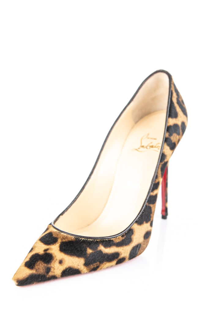 1da0791fd650 ... Christian Louboutin leopard pony hair Pigalle Pumps New Size 10