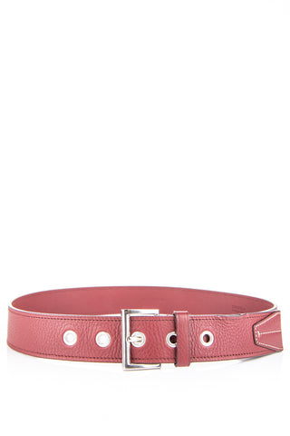 Bottega Veneta intrecciato leather belt - S