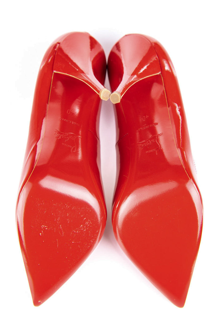Christian Louboutin red patent Batignolles Pumps Size 10 | EU 40 [10% OFF] - OWN THE COUTURE