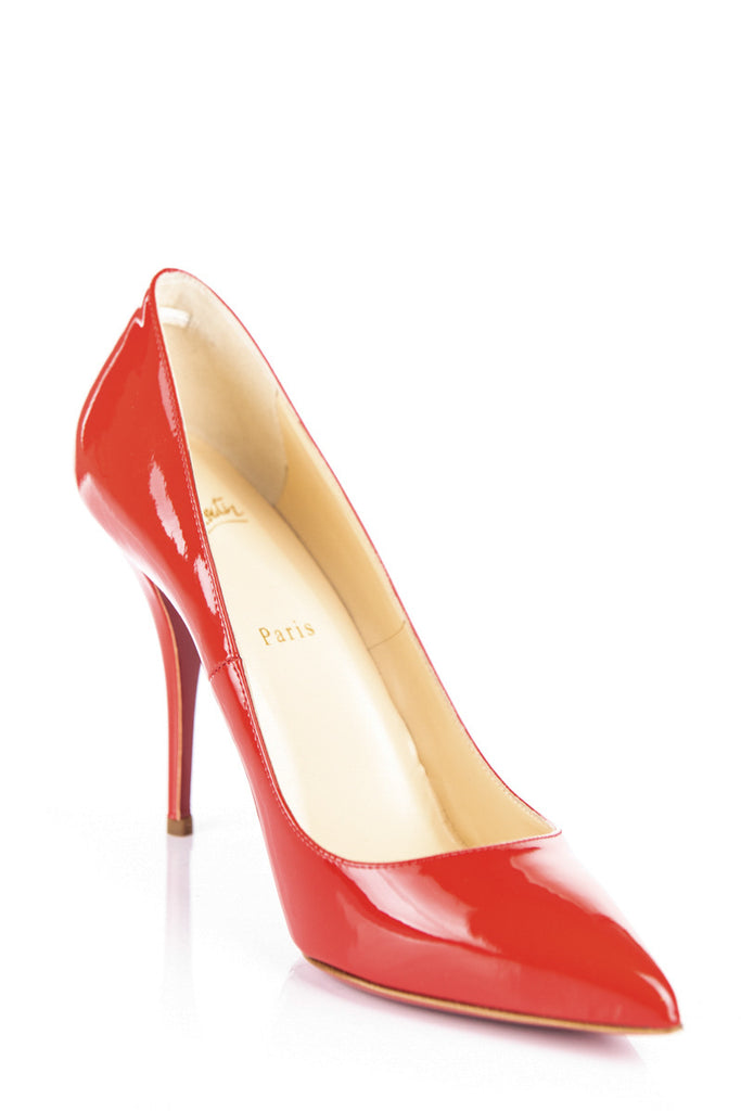 Christian Louboutin red patent Batignolles Pumps Size 10 | EU 40 - OWN THE COUTURE