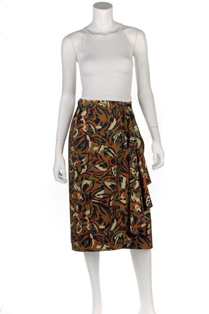 Pierre Balmain abstract print wrap skirt Size XL | FR 44 - OWN THE COUTURE  - 4