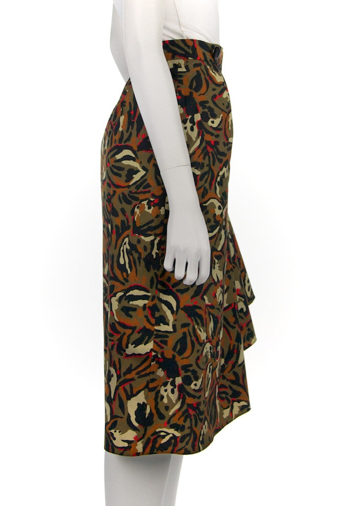Pierre Balmain abstract print wrap skirt Size XL | FR 44 - OWN THE COUTURE