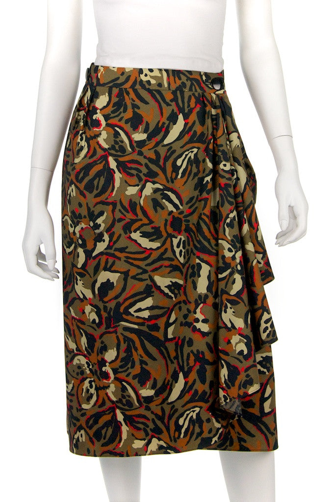 Pierre Balmain abstract print wrap skirt Size XL | FR 44 - OWN THE COUTURE  - 1