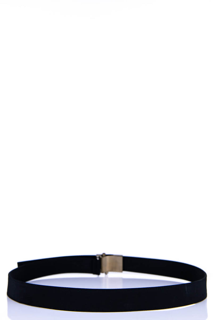 Prada Black Nylon Logo Belt - M - OWN THE COUTURE