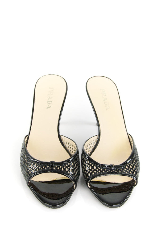 Prada patent leather mules Size 7.5  [25% OFF] - OWN THE COUTURE