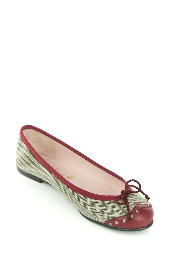 Pretty Ballerinas herringbone and leather ballet flats Size 7  [10% OFF] - OWN THE COUTURE