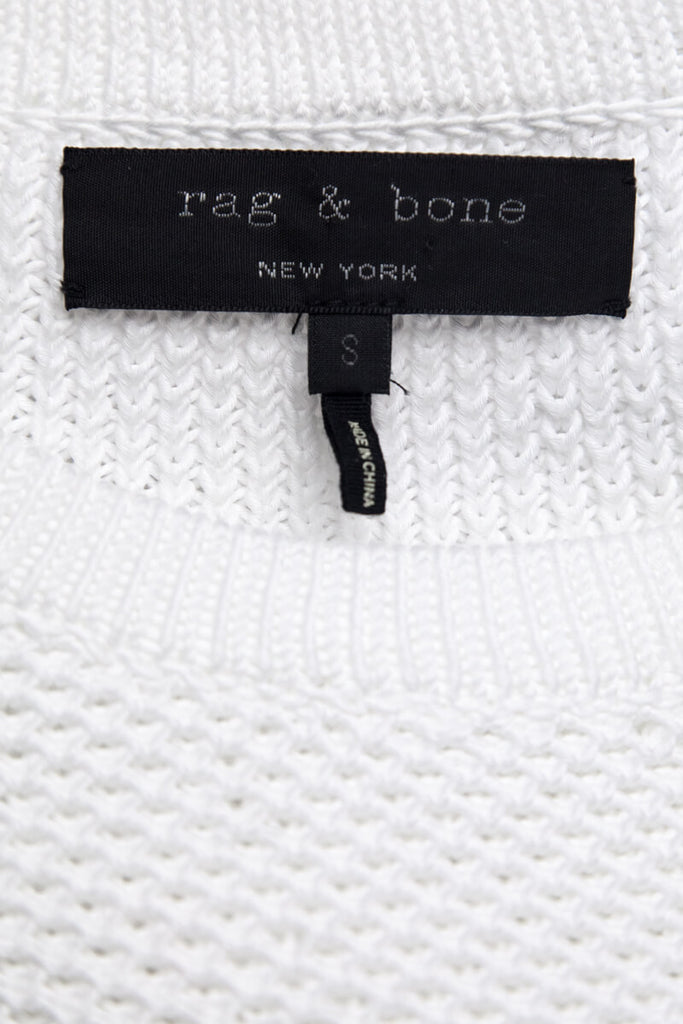 Rag & Bone Two-Tone White and Black Knit Sweater With Patches Size S [20% OFF] - OWN THE COUTURE