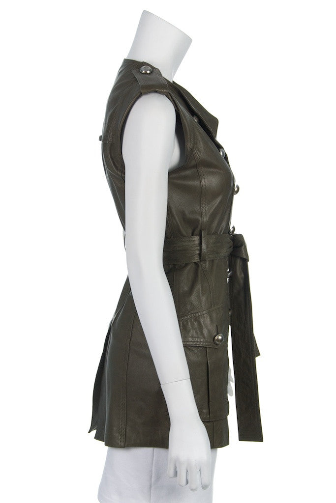 Robert Rodriguez leather sleeveless vest Size XXS | US 0  [10% OFF] - OWN THE COUTURE