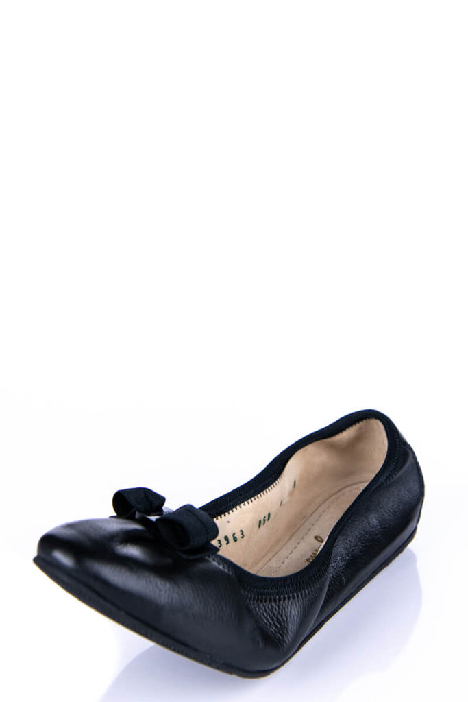 7f9878796679f ... Salvatore Ferragamo Black Leather Pointed Ballet Flats Size 8 | IT 38 -  OWN THE COUTURE ...