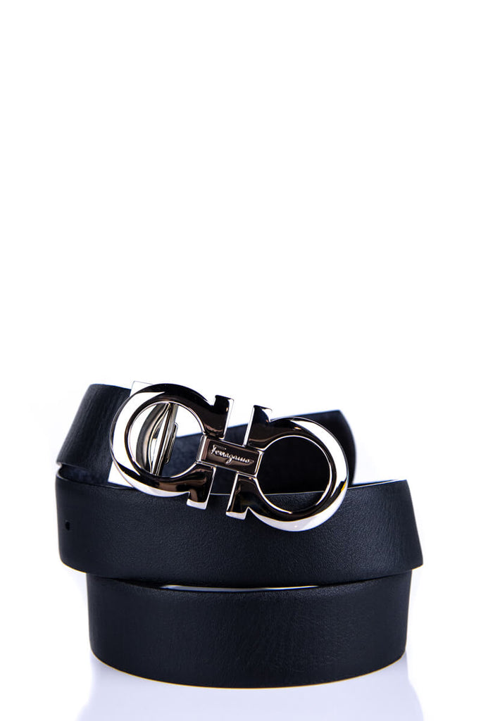 Salvatore Ferragamo Black Reversible Gancini Buckle Belt - M - OWN THE COUTURE