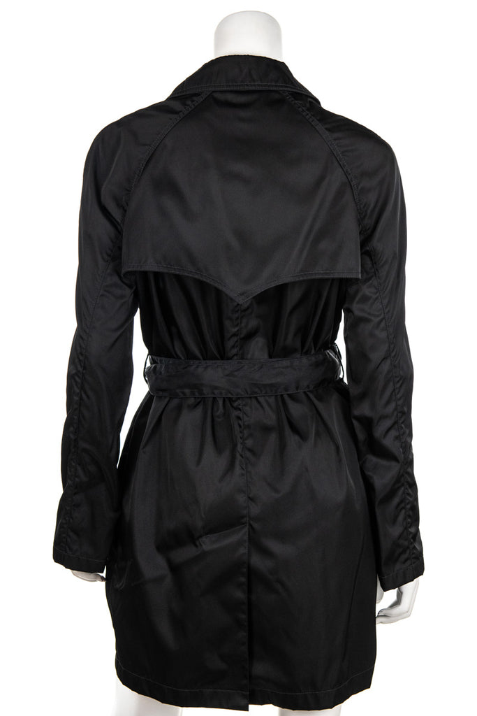 Prada black tessuto belted trench coat Size S | IT 42 - OWN THE COUTURE