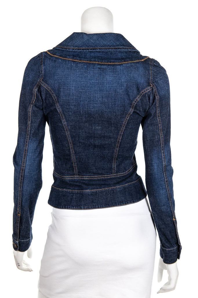 D&G blue denim fitted jacket Size XS - OWN THE COUTURE