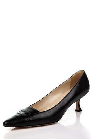Manolo Blahnik Black And White Leather Brogues Size 10 | IT 40