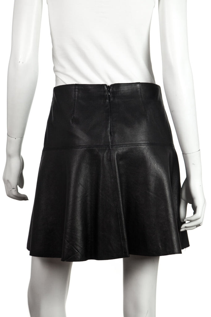 Vince Black Leather Mini Skirt Size S | US 6 - OWN THE COUTURE