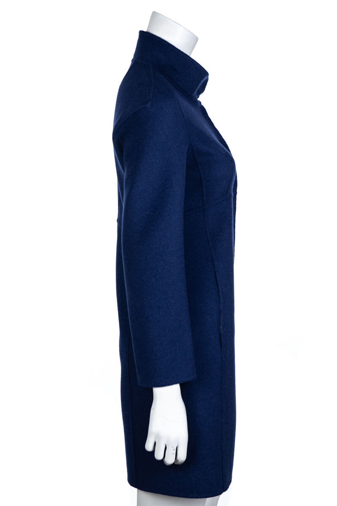 Weekend Max Mara Navy Double Wool Coat Size S | D 36 - OWN THE COUTURE