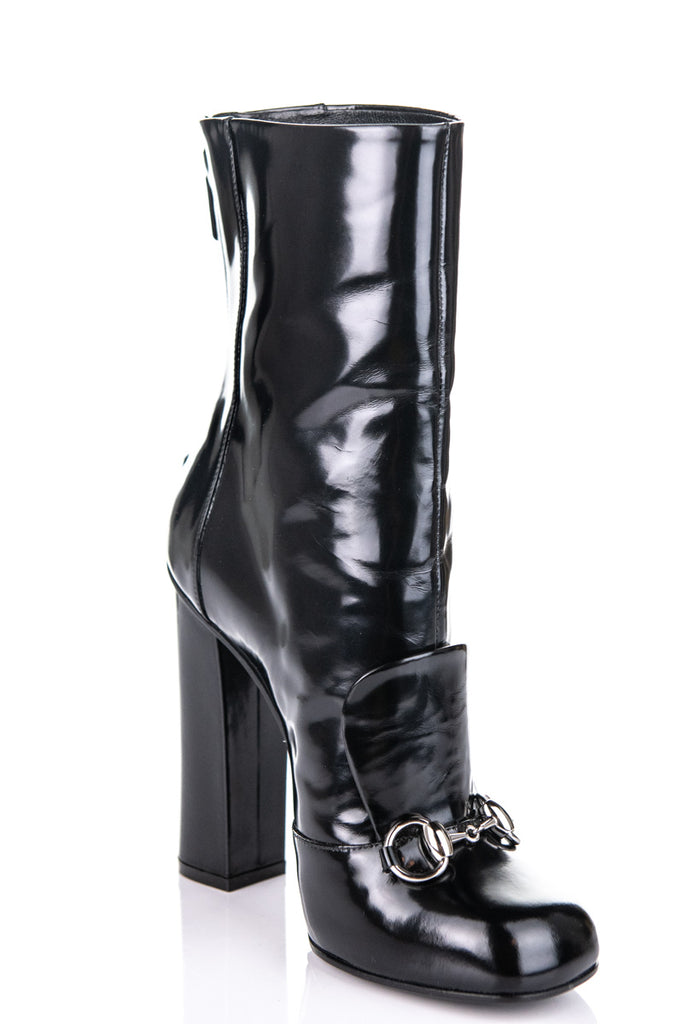 f0bb68d17 ... Gucci black horsebit Lillian mid calf boots Size 8 | EU 38 - OWN THE  COUTURE ...
