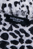 Yves Saint Laurent Black Leopard Wool and Cashmere Scarf - OWN THE COUTURE