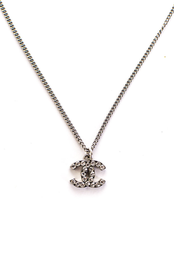 Chanel crystal embellished CC pendant necklace - OWN THE COUTURE