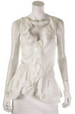 Diane von Furstenberg voile ruffle sleeveless top Size L | US 10 - OWN THE COUTURE