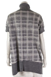 Karen Millen check wool-blend short sleeve turtleneck sweater Size XS - OWN THE COUTURE