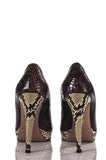 Prada open toe snakeskin platform pumps Size 9 - OWN THE COUTURE  - 4