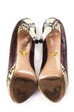 Prada open toe snakeskin platform pumps Size 9 - OWN THE COUTURE  - 5