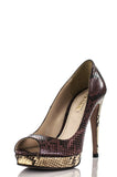 Prada open toe snakeskin platform pumps Size 9 - OWN THE COUTURE  - 1