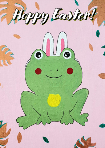 Hoppy Easter Frog - Moon Gecko Illustrations