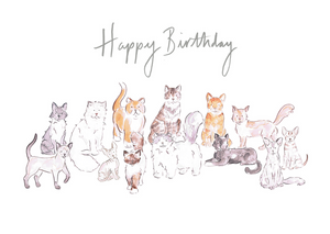 Happy Birthday Cats - Carla Gebhard Design