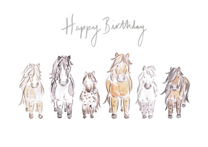 Happy Birthday Ponies - Carla Gebhard Design
