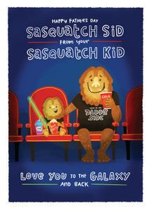 Sasquatch Dad - Blue Kiwi Design
