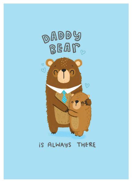 Daddy Bear - Blue Kiwi Design