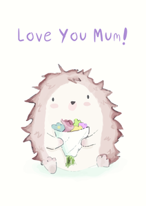 Love You Mum Flowers - Happy Dragon Designs