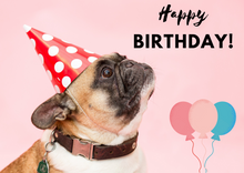 Load image into Gallery viewer, Happy Birthday Pug