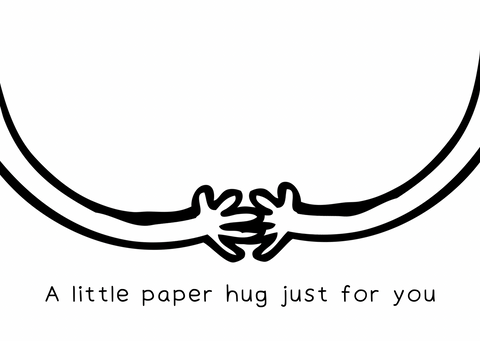 A little paper hug
