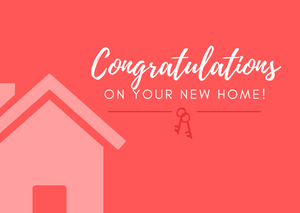 Congratulations - New Home Postcard