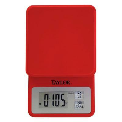 Compact Kitchen Scale Red