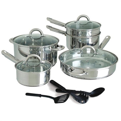 12pc Stainless Cookware 5mm M