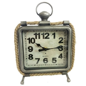 Metal and Rope Table Clock