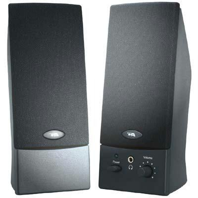 Cyber Acoustics Black Stereo Speakers- Oem