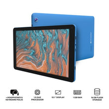 "Load image into Gallery viewer, 10.1"" QuadCore Tablet  Blue"