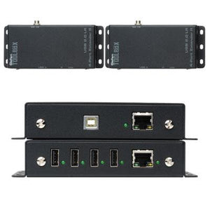 USB 2.0 4 Port Extender Black
