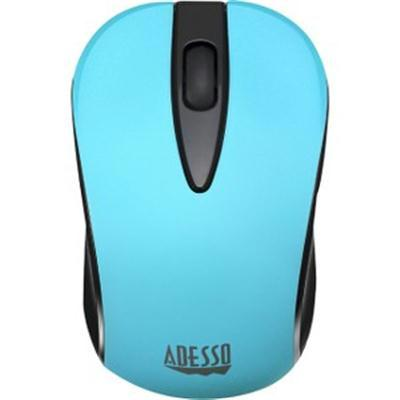 Neon Blue Wireless Mouse