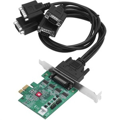 Adds four RS232 serial ports